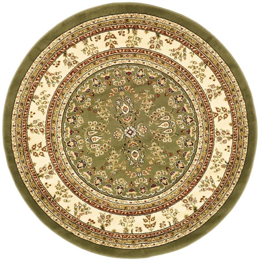 Safavieh Lyndhurst Hamadan Sage/Ivory Round Indoor Machine-made Oriental Area Rug (Common: 5 x 5; Actual: 5.25-ft W x 5.25-ft L x 5.25-ft Dia)