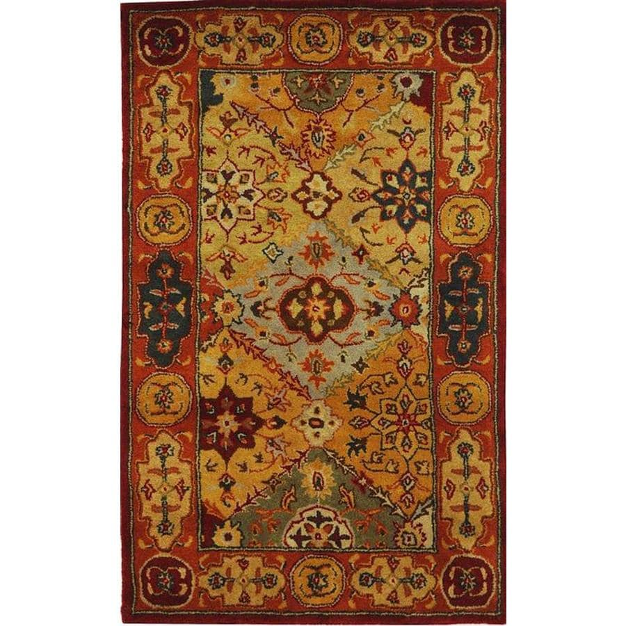 Safavieh Heritage Lavar Indoor Handcrafted Oriental Throw Rug (Common: 3 x 5; Actual: 3-ft W x 5-ft L)