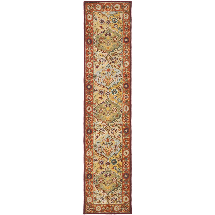 Safavieh Heritage Baktiari Red Indoor Handcrafted Oriental Runner (Common: 2 x 10; Actual: 2.25-ft W x 10-ft L)