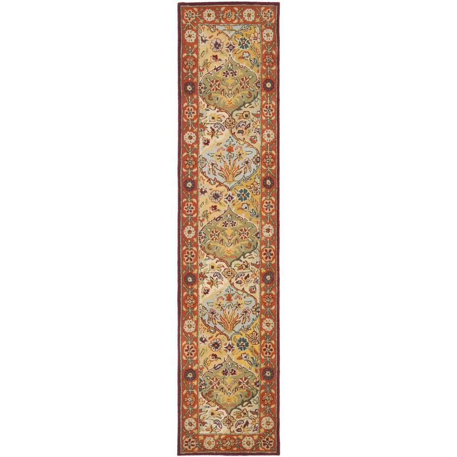 Safavieh Heritage Baktiari Red Indoor Handcrafted Oriental Runner (Common: 2 x 12; Actual: 2.25-ft W x 12-ft L)