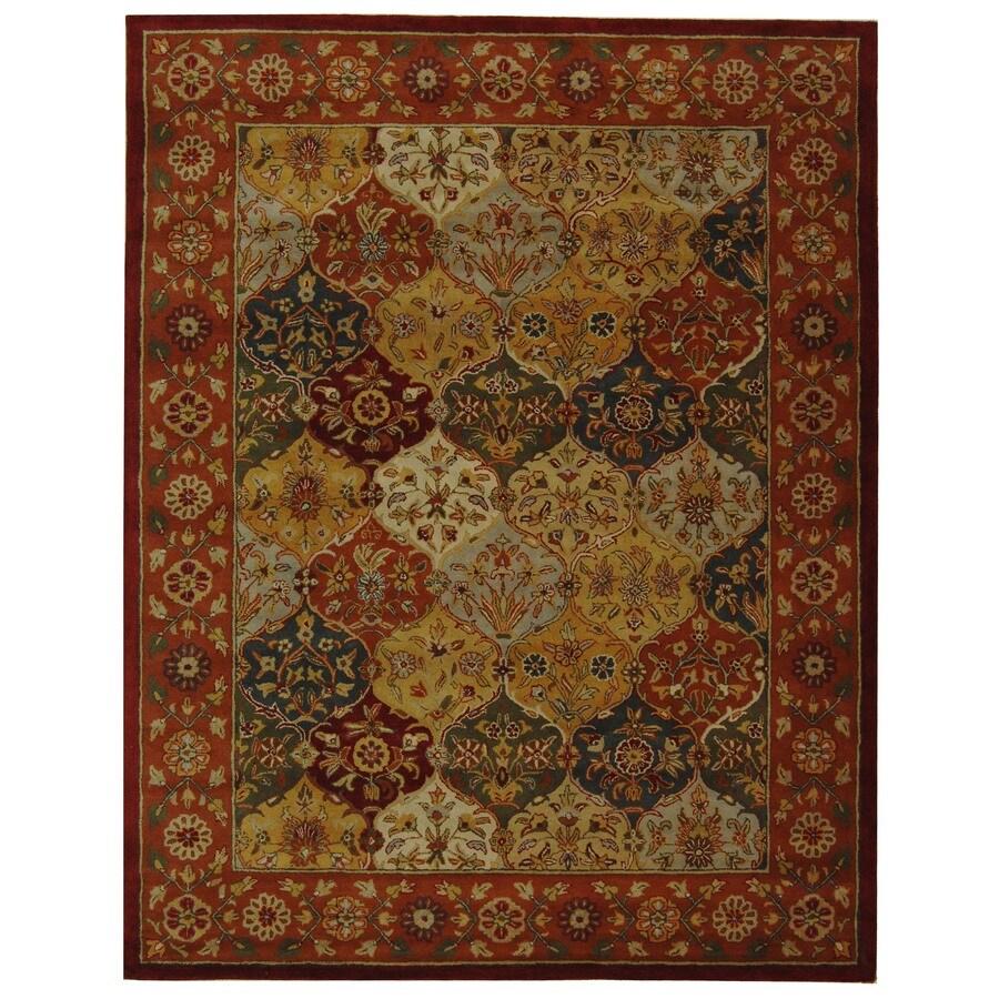 Safavieh Heritage Baktiari Multi/Red Rectangular Indoor Handcrafted Oriental Area Rug (Common: 8 x 11; Actual: 8.25-ft W x 11-ft L)