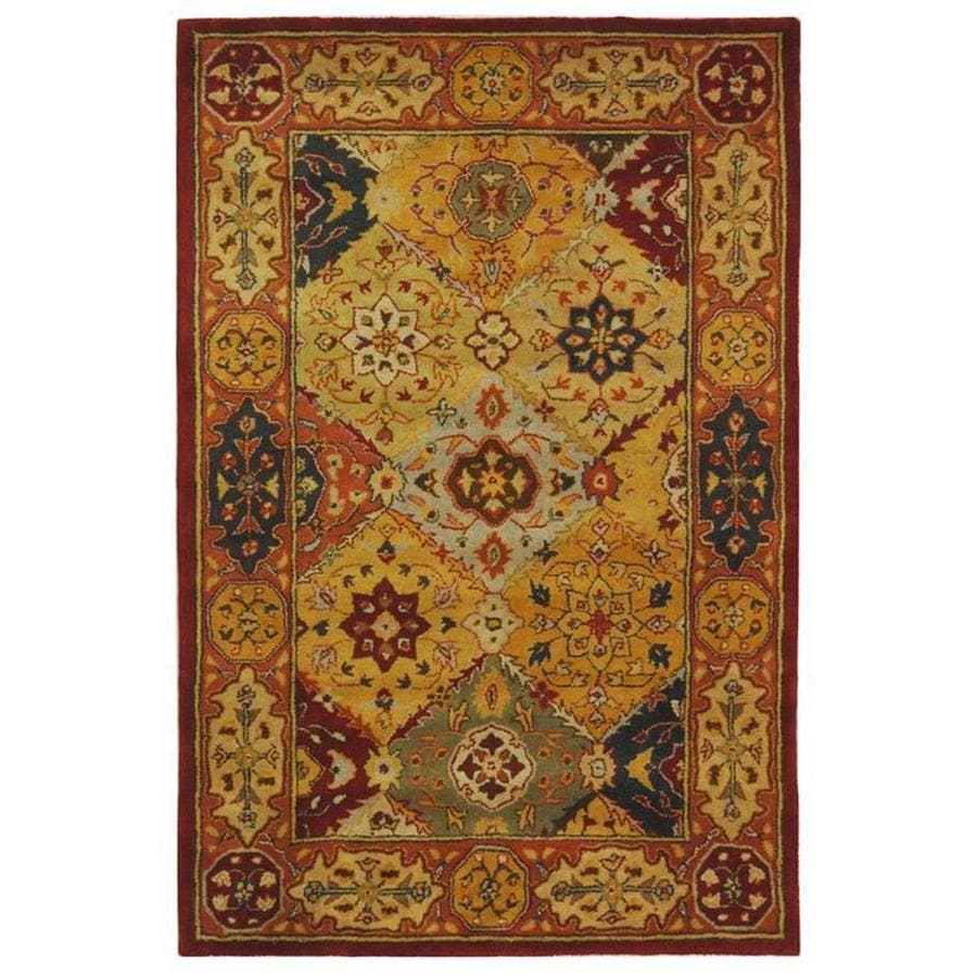 Safavieh Heritage Lavar Indoor Handcrafted Oriental Area Rug (Common: 4 x 6; Actual: 4-ft W x 6-ft L)