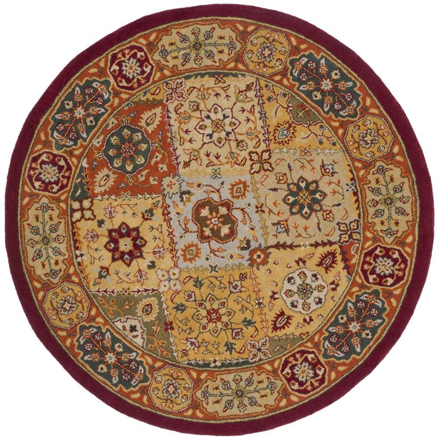 Safavieh Heritage Multi Round Indoor Handcrafted Oriental Area Rug (Common: 6 x 6; Actual: 6-ft W x 6-ft L x 6-ft Dia)
