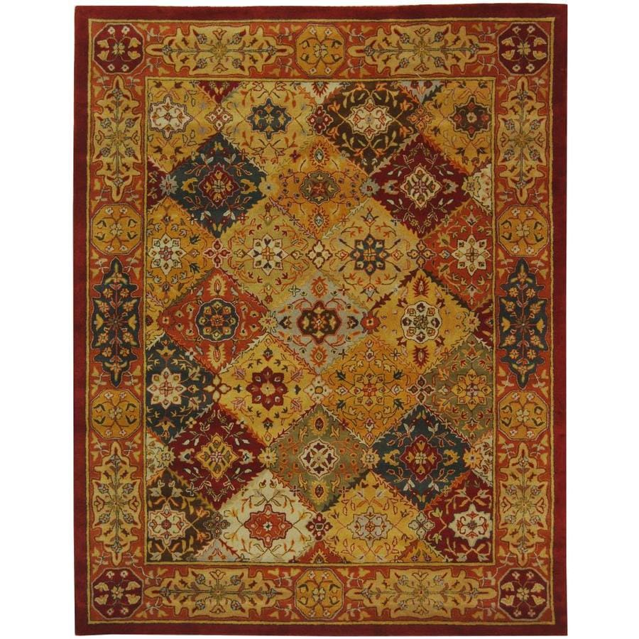 Safavieh Heritage Multi Rectangular Indoor Tufted Area Rug (Common: 7 x 9; Actual: 7.5-ft W x 9.5-ft L)