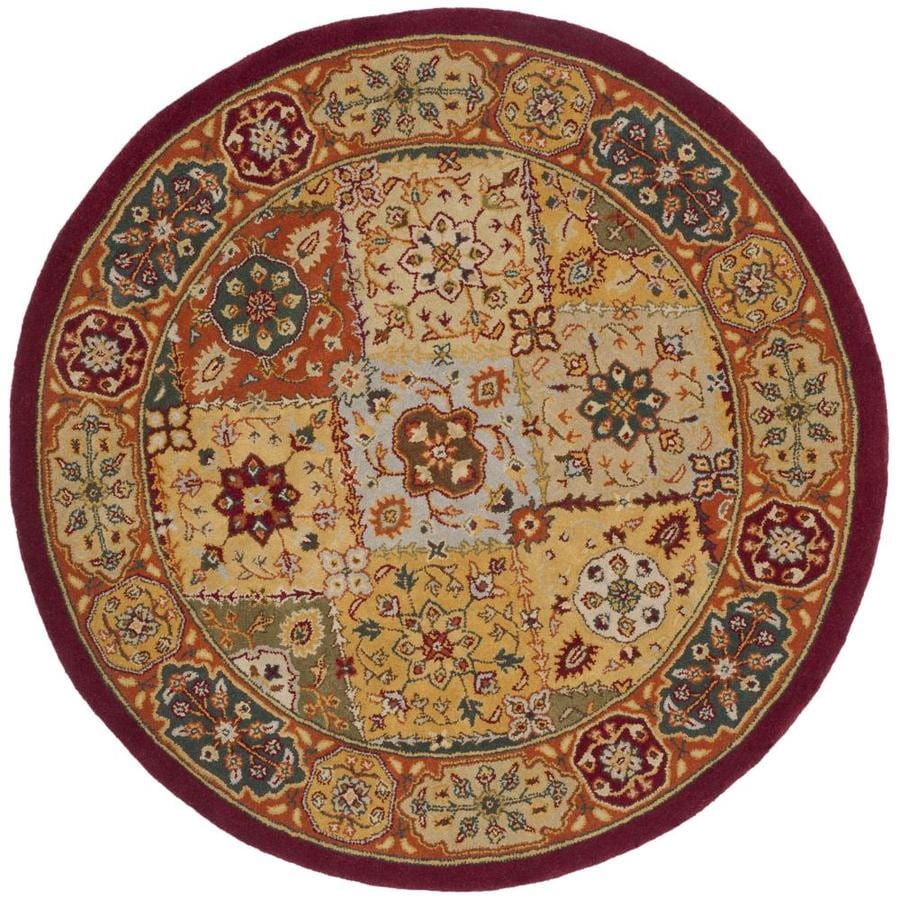 Safavieh Heritage Lavar Multi Round Indoor Handcrafted Oriental Area Rug (Common: 8 x 8; Actual: 8-ft W x 8-ft L x 8-ft Dia)