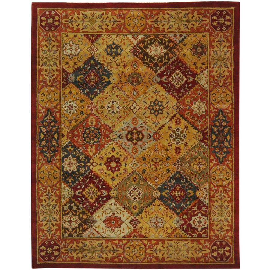 Safavieh Heritage Lavar Multi Rectangular Indoor Handcrafted Oriental Area Rug (Common: 8 x 11; Actual: 8.25-ft W x 11-ft L)