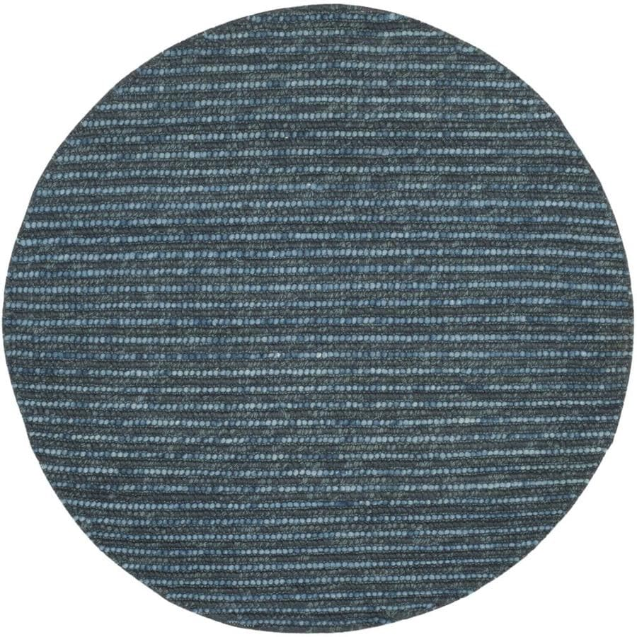 Safavieh Bohemian Lina Dark Blue Round Indoor Handcrafted Lodge Area Rug (Common: 4 x 4; Actual: 4-ft W x 4-ft L x 4-ft dia)