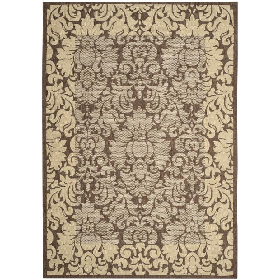 Safavieh Courtyard Nashua 4 X 6 Chocolate Natural Indoor Outdoor Damask Coastal Area Rug In The Rugs Department At Lowes Com