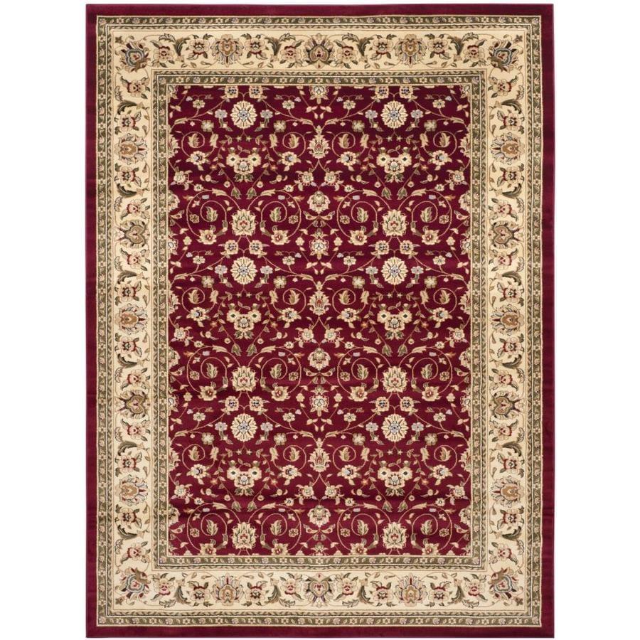 Safavieh Lyndhurst Qum Red/Ivory Rectangular Indoor Machine-made Oriental Area Rug (Common: 8 x 11; Actual: 8-ft W x 11-ft L)