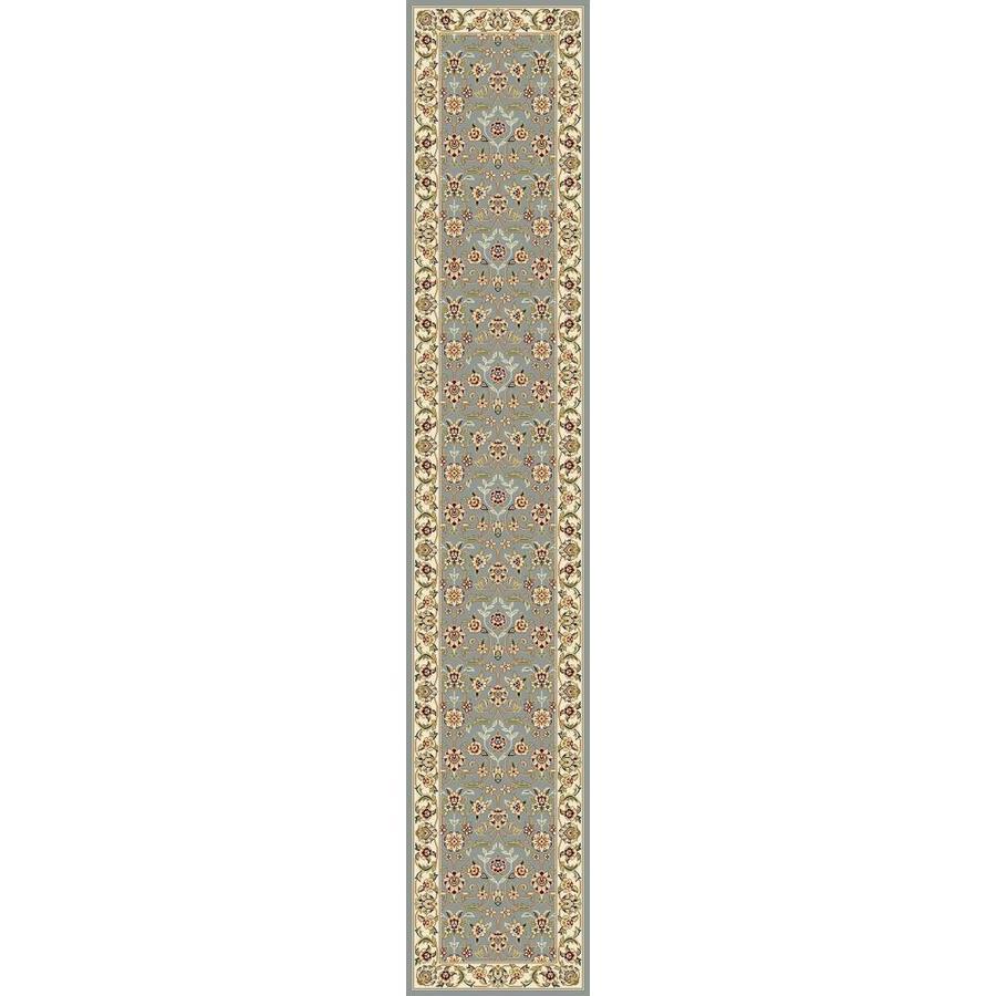 Safavieh Lyndhurst Qum Light Blue/Ivory Indoor Oriental Runner (Common: 2 x 12; Actual: 2.25-ft W x 12-ft L)