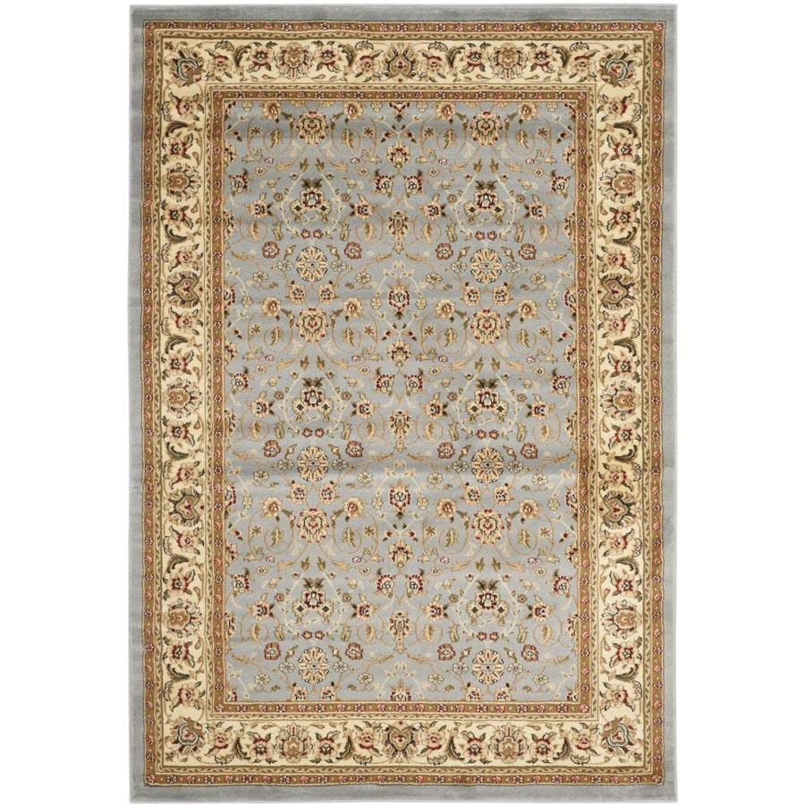 Safavieh Lyndhurst Qum Light Blue/Ivory Indoor Oriental Area Rug (Common: 5 x 8; Actual: 5.25-ft W x 7.5-ft L)