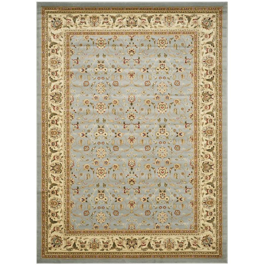 Safavieh Kashan Light Blue and Ivory Rectangular Indoor Machine-Made Area Rug (Common: 8 x 11; Actual: 96-in W x 132-in L x 0.58-ft Dia)