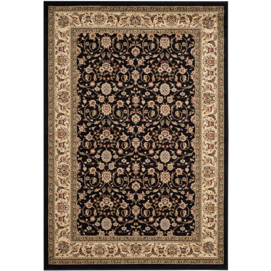 Safavieh Lyndhurst Antoinette Black/Ivory Indoor Oriental Area Rug (Common: 5 x 8; Actual: 5.25-ft W x 7.5-ft L)