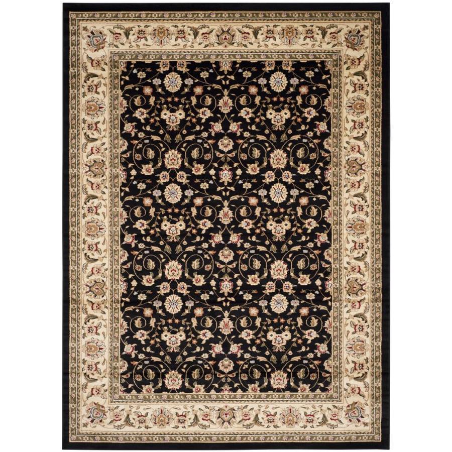 Safavieh Lyndhurst Antoinette Black/Ivory Rectangular Indoor Machine-made Oriental Area Rug (Common: 8 x 11; Actual: 8-ft W x 11-ft L)