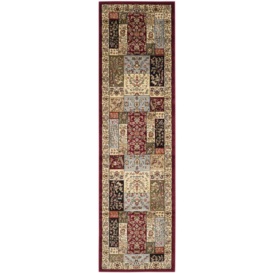 Safavieh Lyndhurst Omni Multi/Ivory Rectangular Indoor Machine-made Oriental Runner (Common: 2 x 8; Actual: 2.25-ft W x 8-ft L)