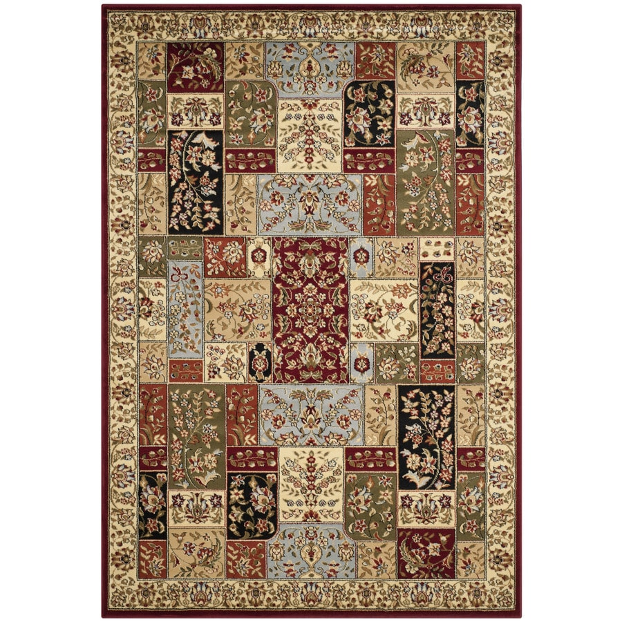 Safavieh Lyndhurst Omni Ivory Indoor Oriental Area Rug (Common: 5 x 8; Actual: 5.25-ft W x 7.5-ft L)