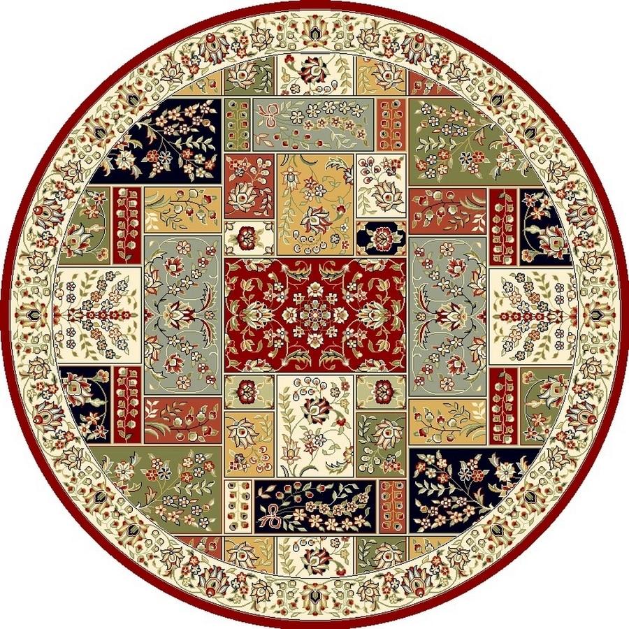 Safavieh Lyndhurst Omni Multi Ivory Round Indoor Oriental