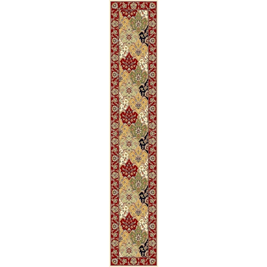 Safavieh Lyndhurst Fusion Red Indoor Oriental Runner (Common: 2 x 12; Actual: 2.25-ft W x 12-ft L)