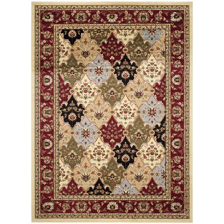 Safavieh Lyndhurst Fusion Multi/Red Rectangular Indoor Machine-made Oriental Area Rug (Common: 8 x 11; Actual: 8-ft W x 11-ft L)