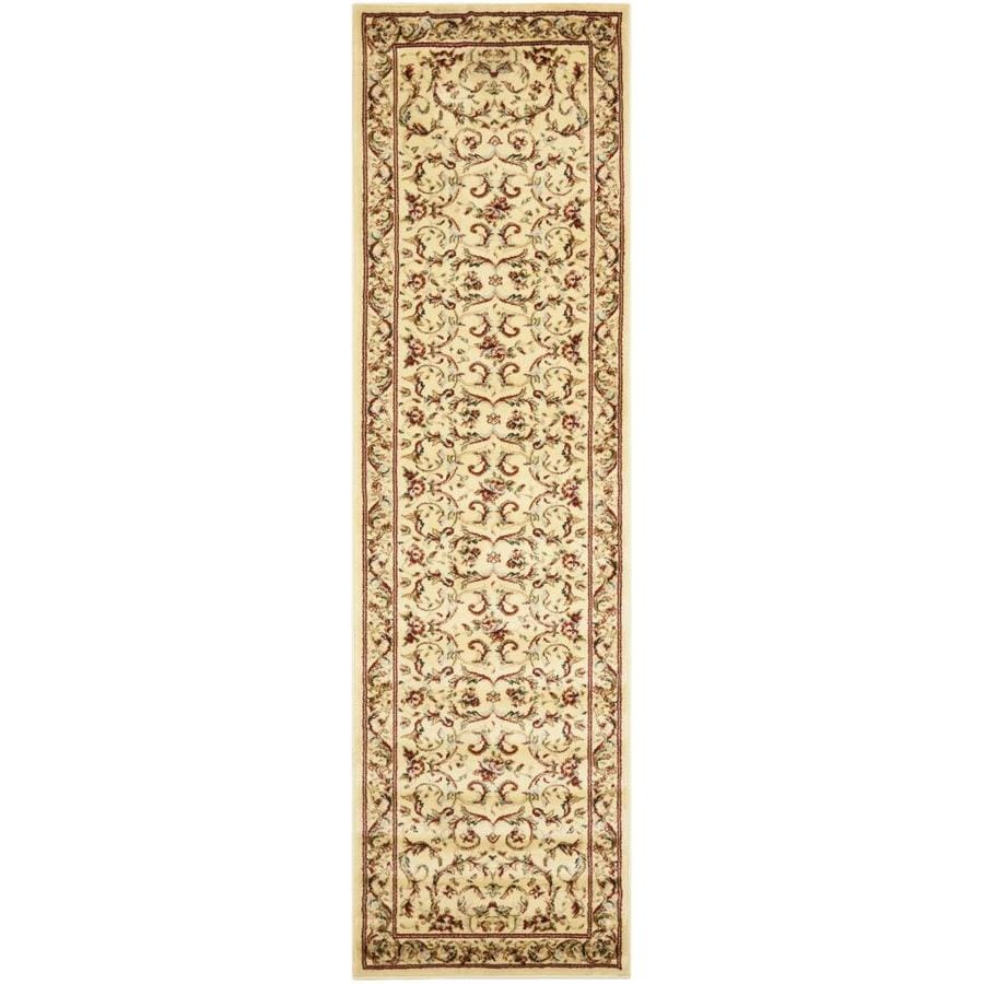 Safavieh Lyndhurst Lyon Ivory Indoor Oriental Runner (Common: 2 x 8; Actual: 2.25-ft W x 8-ft L)