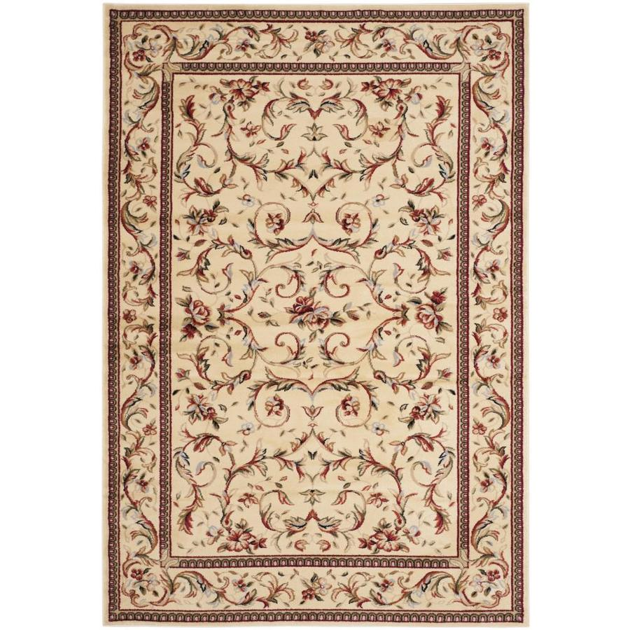 Safavieh Lyndhurst Lyon Ivory/Ivory Rectangular Indoor Machine-made Oriental Area Rug (Common: 5 x 7; Actual: 5.25-ft W x 7.5-ft L)