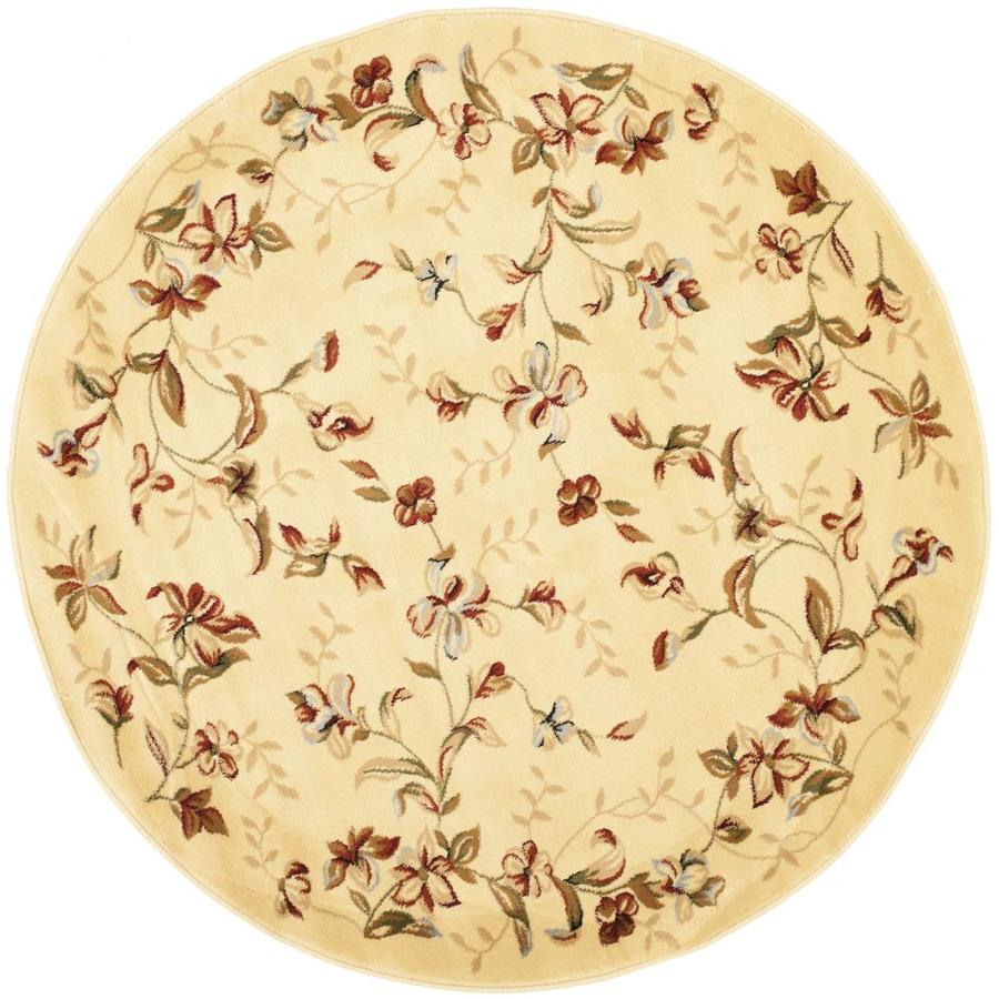 Safavieh Lyndhurst Chester Beige Round Indoor Machine-made Oriental Area Rug (Common: 8 x 8; Actual: 8-ft W x 8-ft L x 8-ft dia)