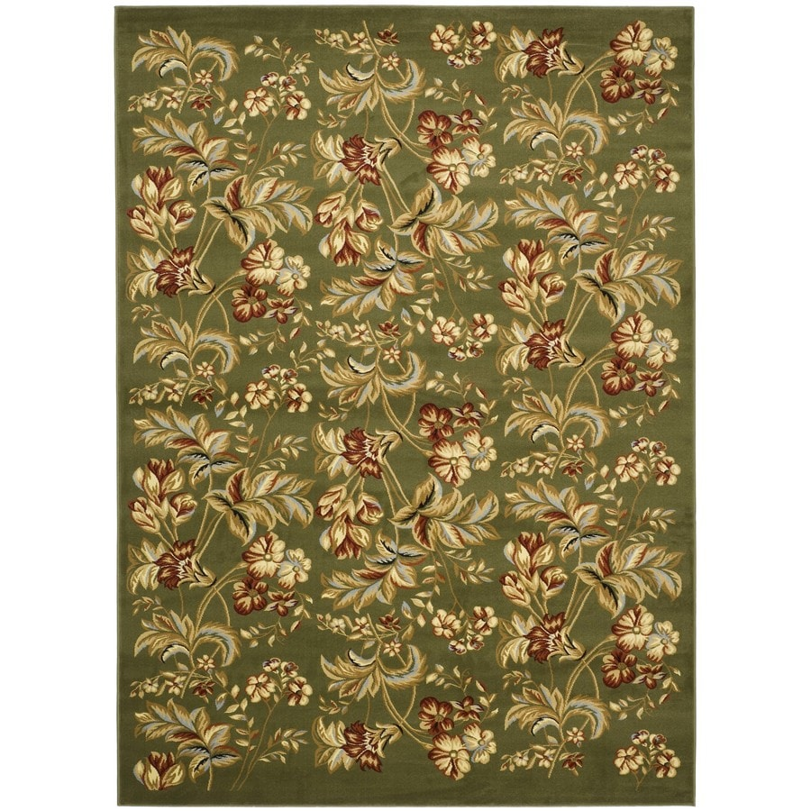Safavieh Lyndhurst Oakdale Sage Rectangular Indoor Machine-made Oriental Throw Rug (Common: 3 x 5; Actual: 3.25-ft W x 5.25-ft L)