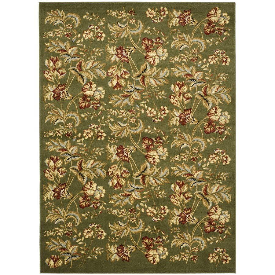 Safavieh Lyndhurst Oakdale Sage Rectangular Indoor Machine-made Oriental Area Rug (Common: 5 x 7; Actual: 5.25-ft W x 7.5-ft L)
