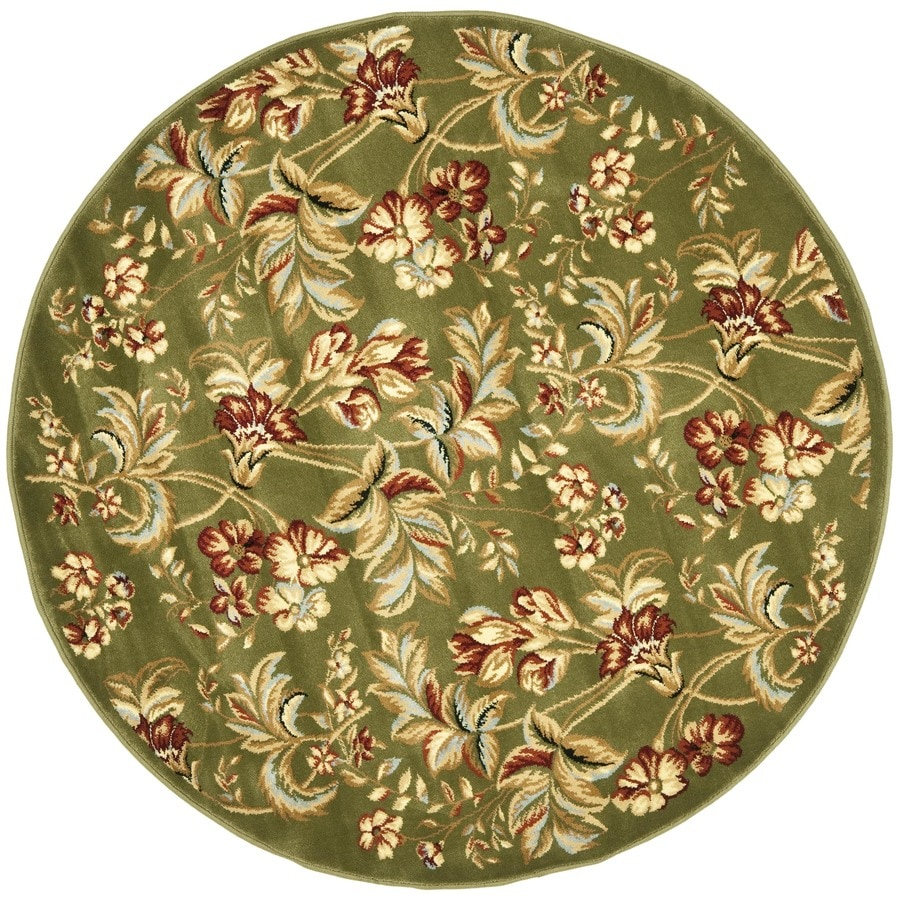Safavieh Lyndhurst Oakdale Sage Round Indoor Machine-made Oriental Area Rug (Common: 5 x 5; Actual: 5.25-ft W x 5.25-ft L x 5.25-ft Dia)