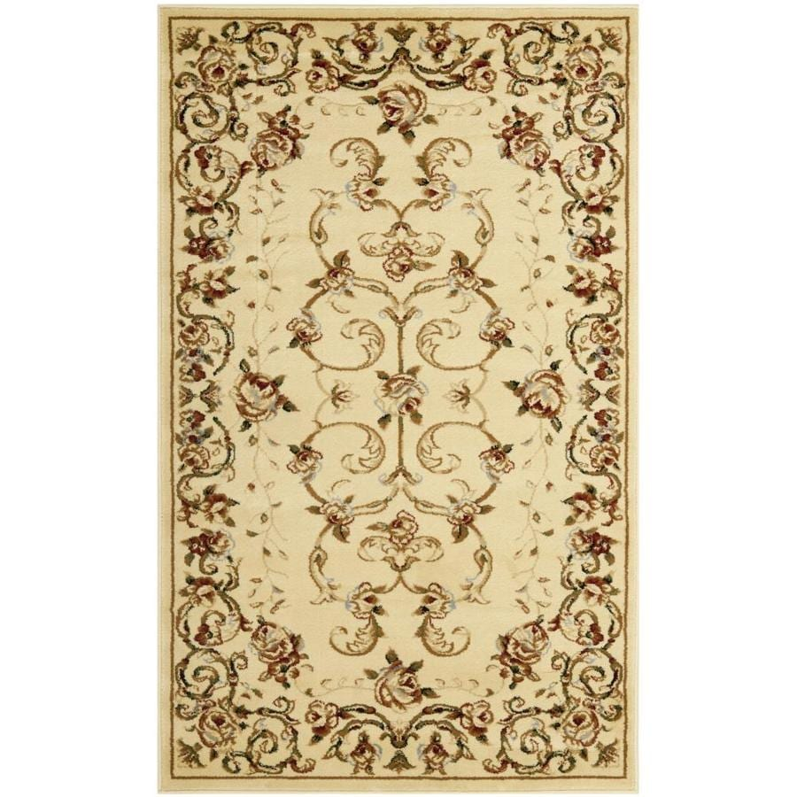 Safavieh Lyndhurst Primrose Ivory Indoor Oriental Throw Rug (Common: 3 x 5; Actual: 3.25-ft W x 5.25-ft L)