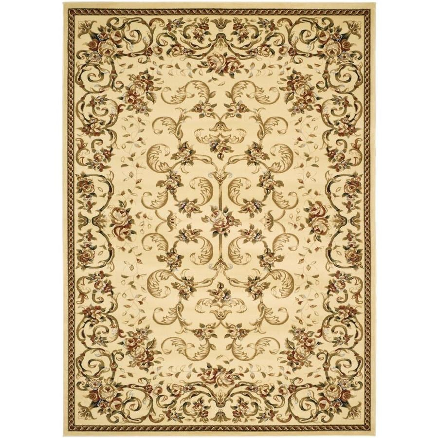 Safavieh Lyndhurst Primrose Ivory Indoor Oriental Area Rug (Common: 5 x 8; Actual: 5.25-ft W x 7.5-ft L)