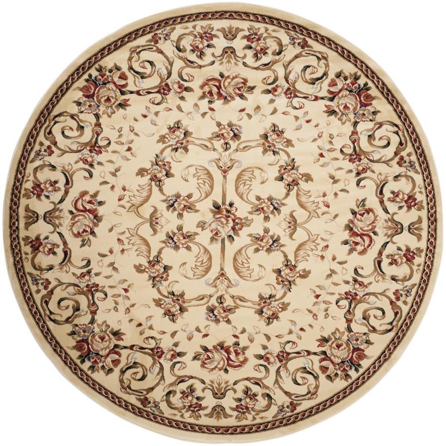 Safavieh Lyndhurst Primrose Ivory Round Indoor Machine-made Oriental Area Rug (Common: 5 x 5; Actual: 5.25-ft W x 5.25-ft L x 5.25-ft Dia)