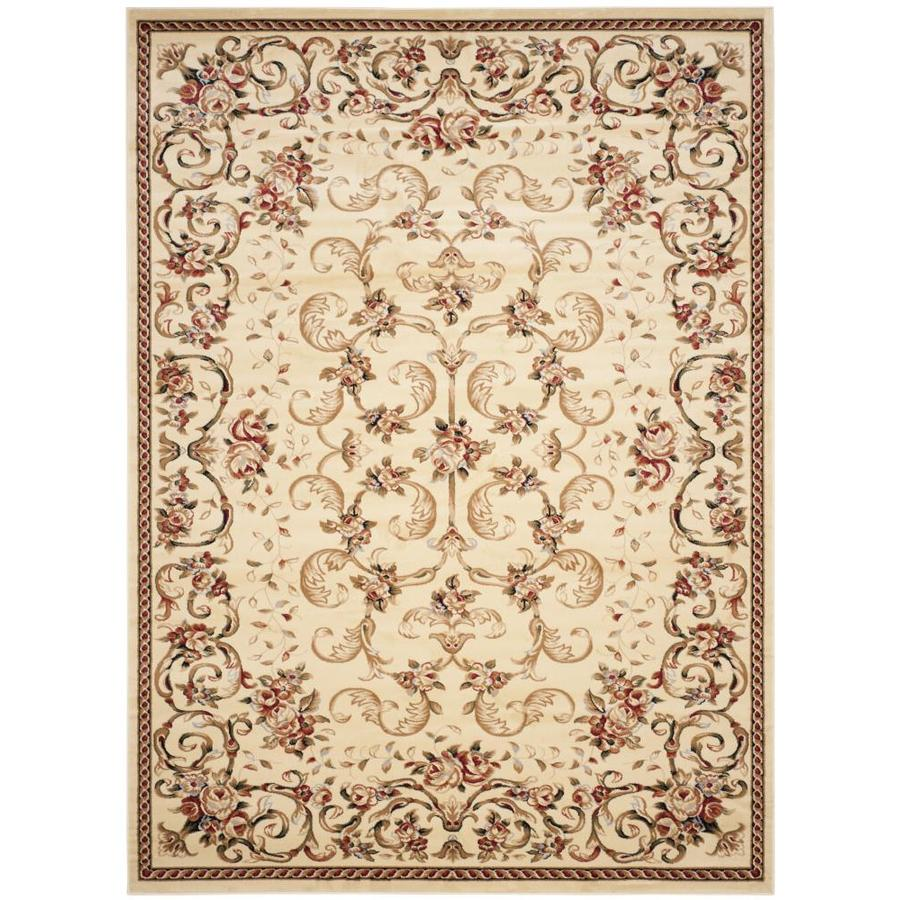 Safavieh Lyndhurst Ivory Rectangular Indoor Machine-Made Area Rug (Common: 8 x 10; Actual: 96-in W x 132-in L x 0.58-ft Dia)