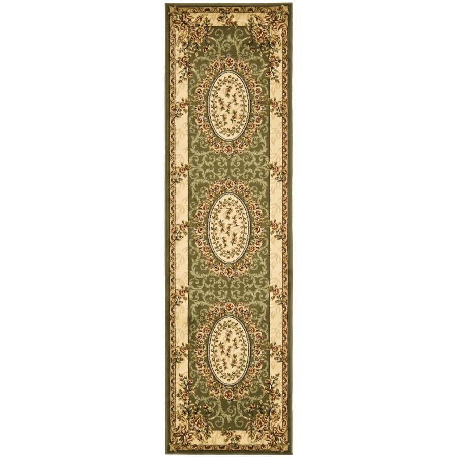 Safavieh Lyndhurst Grandour Sage/Ivory Indoor Oriental Runner (Common: 2 x 8; Actual: 2.25-ft W x 8-ft L)