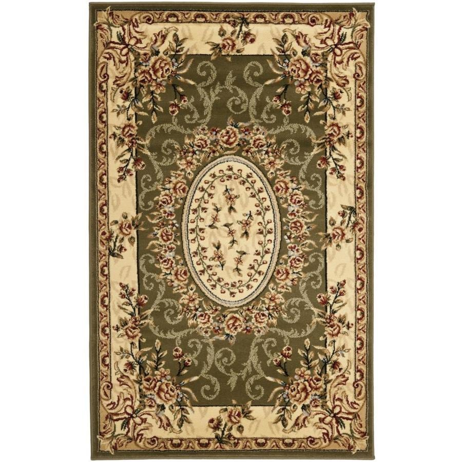 Safavieh Lyndhurst Grandour Sage/Ivory Rectangular Indoor Machine-made Oriental Throw Rug (Common: 3 x 5; Actual: 3.25-ft W x 5.25-ft L)