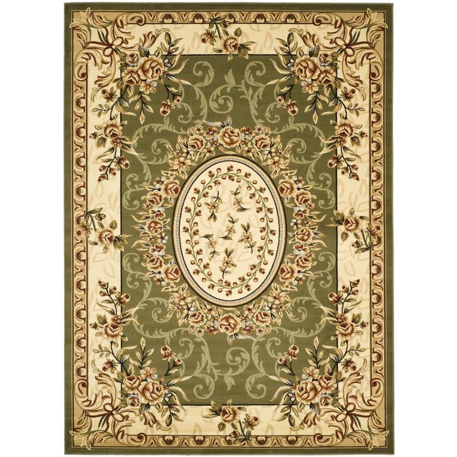 Safavieh Lyndhurst Grandour Sage/Ivory Indoor Oriental Area Rug (Common: 8 x 11; Actual: 8-ft W x 11-ft L)