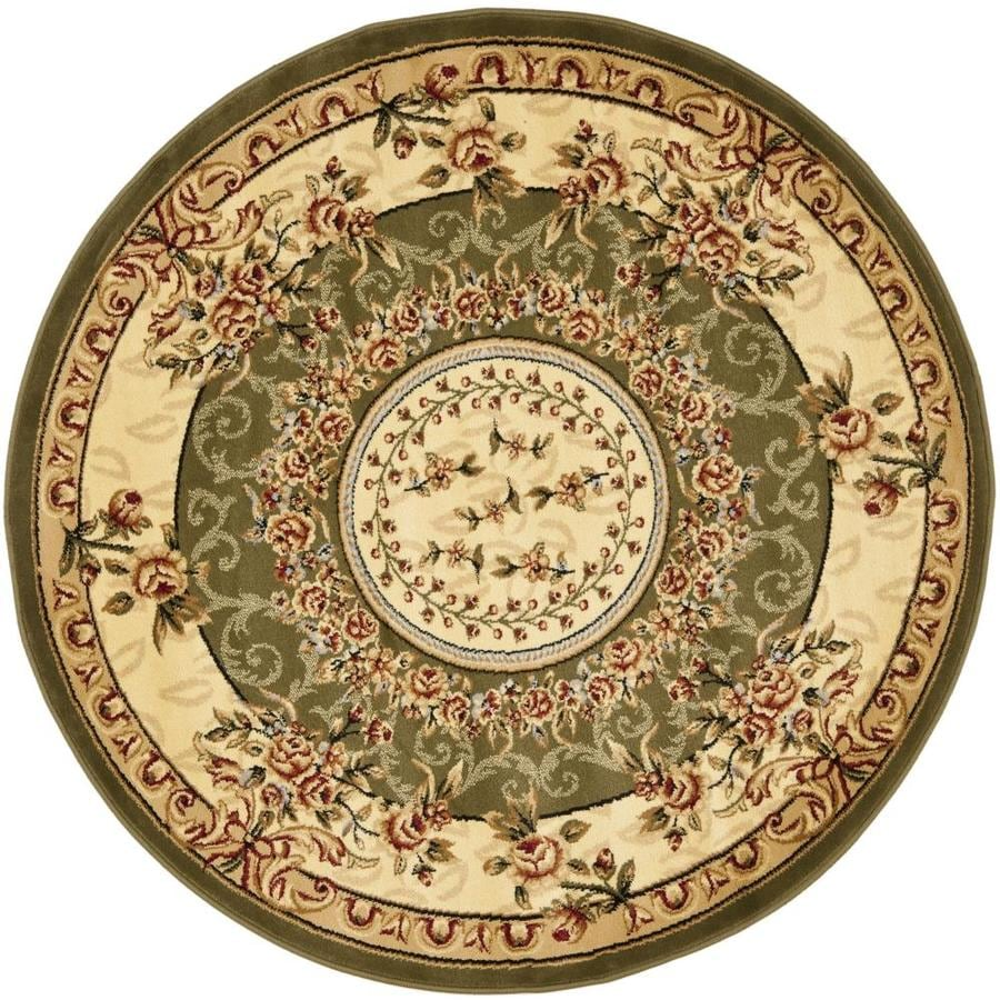 Safavieh Lyndhurst Grandour Sage/Ivory Round Indoor Oriental Area Rug (Common: 8 x 8; Actual: 8-ft W x 8-ft L x 8-ft dia)
