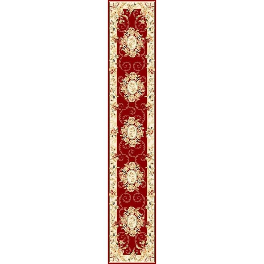 Safavieh Lyndhurst Grandour Red/Ivory Indoor Oriental Runner (Common: 2 x 12; Actual: 2.25-ft W x 12-ft L)