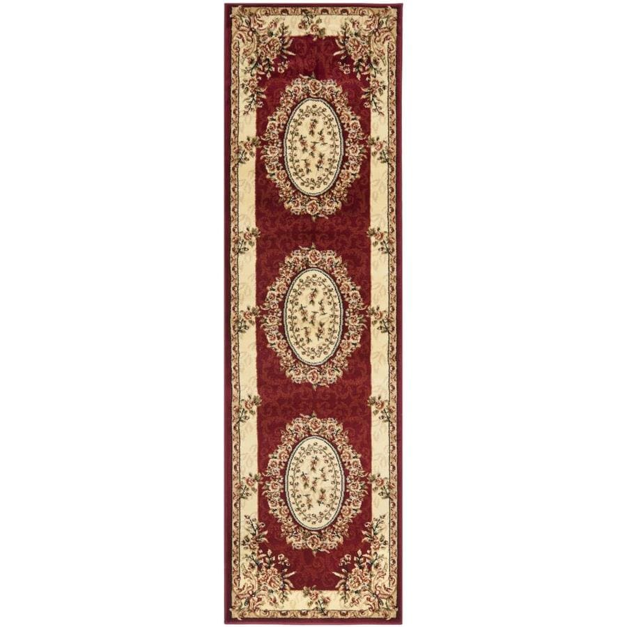 Safavieh Lyndhurst Grandour Red/Ivory Rectangular Indoor Machine-made Oriental Runner (Common: 2 x 8; Actual: 2.25-ft W x 8-ft L)