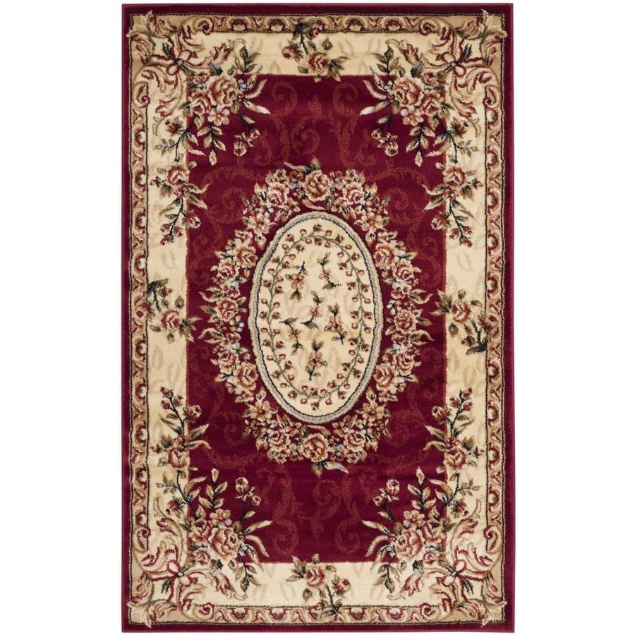 Safavieh Lyndhurst Grandour Red/Ivory Rectangular Indoor Machine-made Oriental Throw Rug (Common: 3 x 5; Actual: 3.25-ft W x 5.25-ft L)