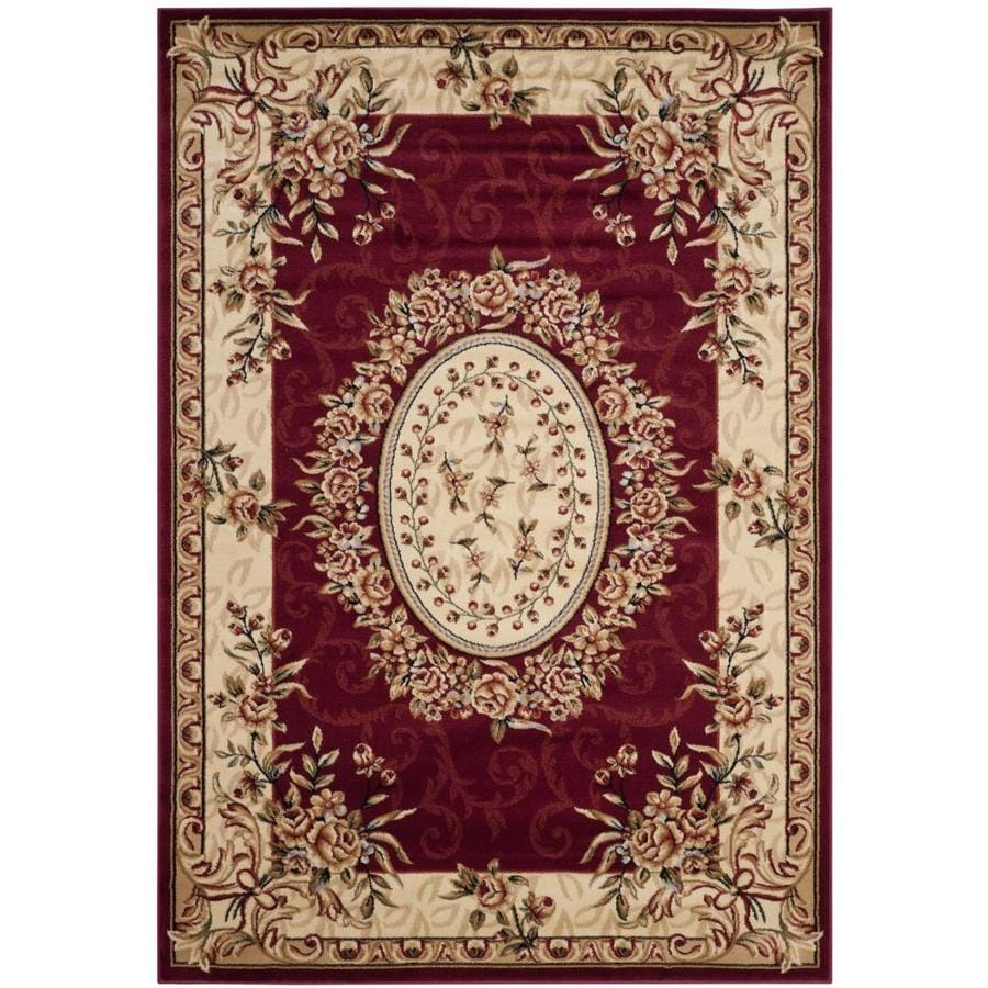 Safavieh Lyndhurst Grandour Red/Ivory Indoor Oriental Area Rug (Common: 5 x 8; Actual: 5.25-ft W x 7.5-ft L)