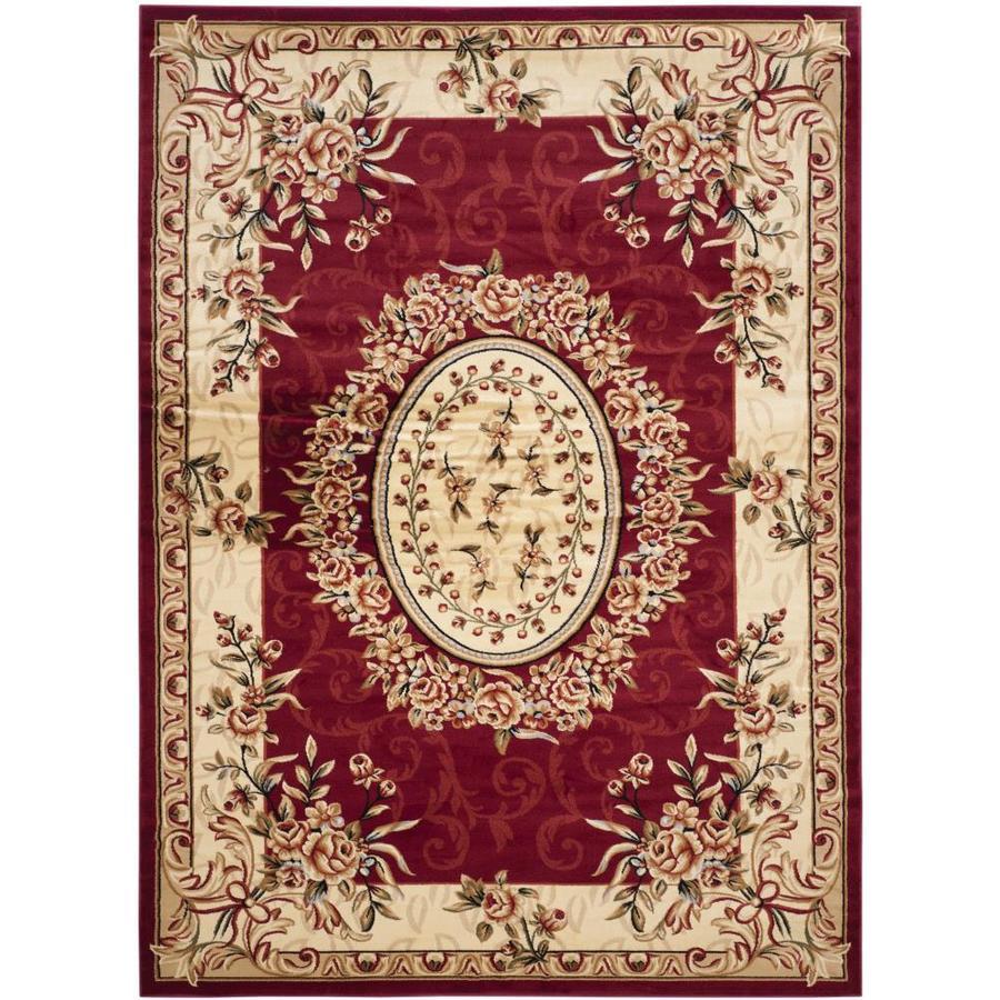Safavieh Lyndhurst Grandour Red/Ivory Rectangular Indoor Machine-made Oriental Area Rug (Common: 8 x 11; Actual: 8-ft W x 11-ft L)