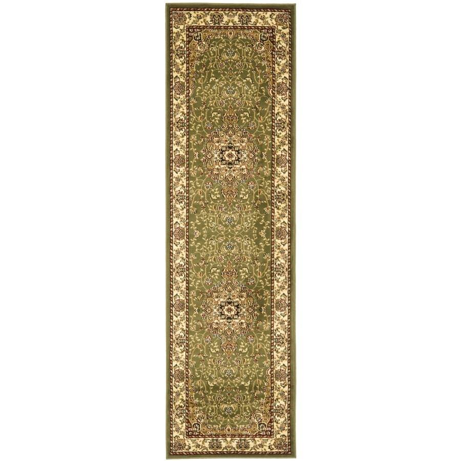 Safavieh Lyndhurst Kerman Sage/Ivory Indoor Oriental Runner (Common: 2 x 8; Actual: 2.25-ft W x 8-ft L)