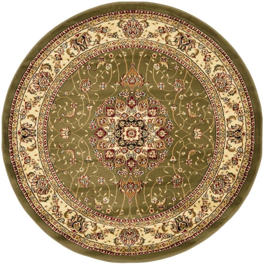 Safavieh Lyndhurst Kerman Sage/Ivory Round Indoor Machine-made Oriental Area Rug (Common: 5 x 5; Actual: 5.25-ft W x 5.25-ft L x 5.25-ft dia)