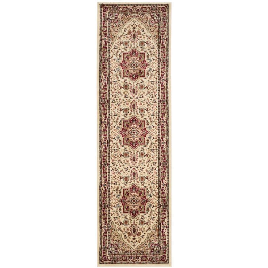 Safavieh Lyndhurst Heriz Ivory/Red Indoor Oriental Runner (Common: 2 x 8; Actual: 2.25-ft W x 8-ft L)