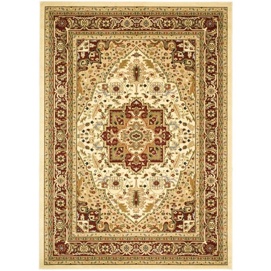 Safavieh Lyndhurst Heriz Ivory/Red Rectangular Indoor Machine-made Oriental Area Rug (Common: 5 x 7; Actual: 5.25-ft W x 7.5-ft L)