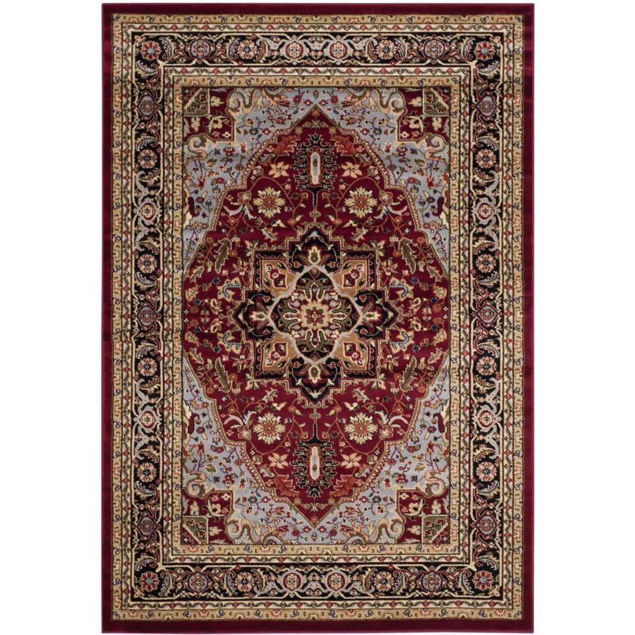 Safavieh Lyndhurst Heriz Red/Black Rectangular Indoor Machine-made Oriental Area Rug (Common: 5 x 7; Actual: 5.25-ft W x 7.5-ft L)
