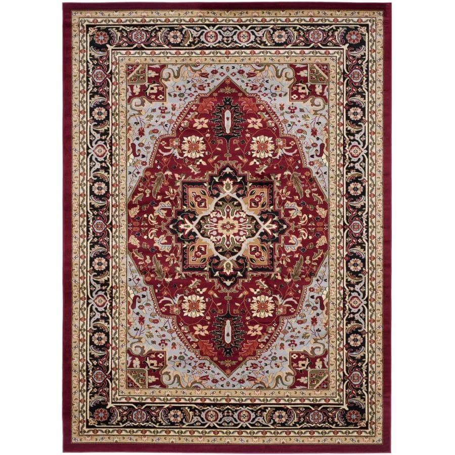 Safavieh Lyndhurst Heriz Red/Black Rectangular Indoor Machine-made Oriental Area Rug (Common: 8 x 11; Actual: 8-ft W x 11-ft L)