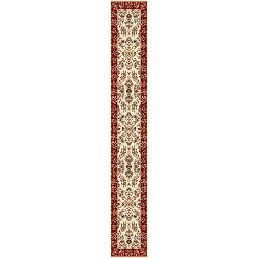 Safavieh Lyndhurst Hamadan Ivory/Red Rectangular Indoor Machine-made Oriental Runner (Common: 2 x 12; Actual: 2.25-ft W x 12-ft L)