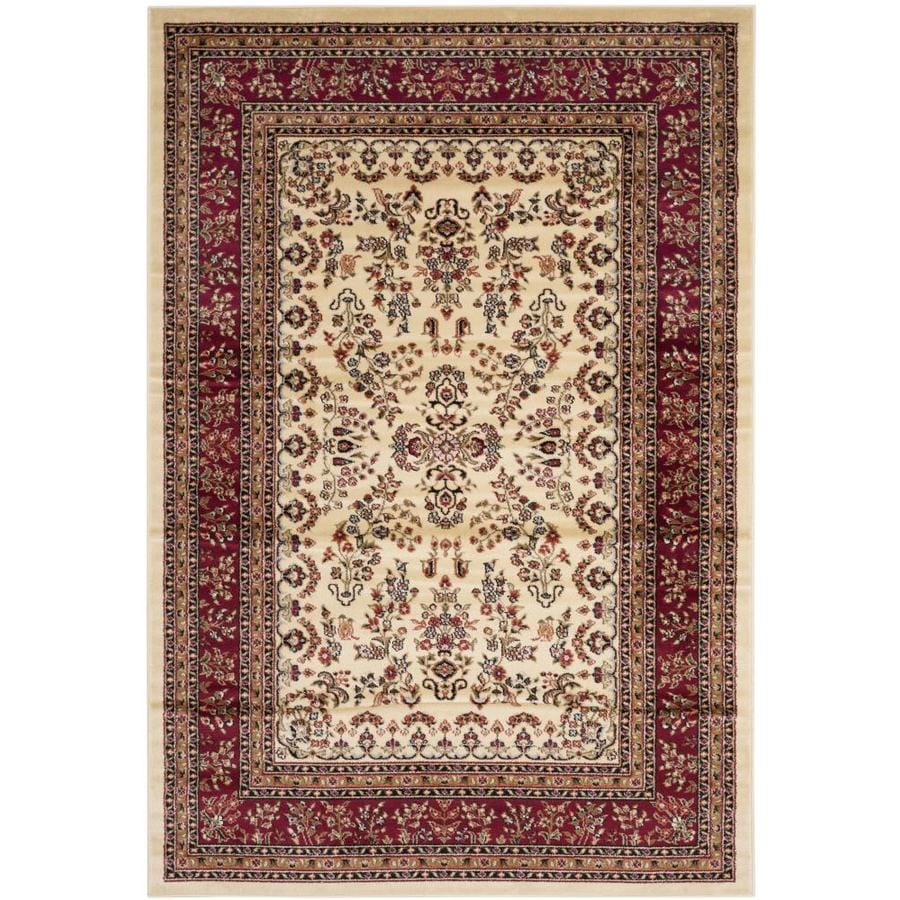 Safavieh Lyndhurst Hamadan Ivory/Red Indoor Oriental Area Rug (Common: 5 x 8; Actual: 5.25-ft W x 7.5-ft L)